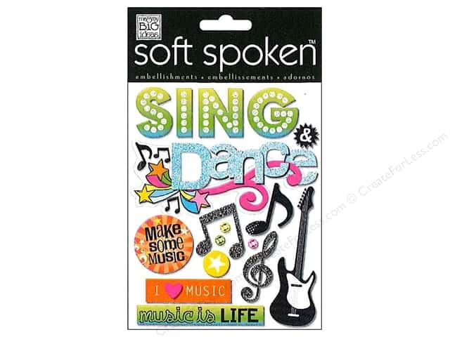 Me & My Big Ideas Soft Spoken Stickers Sing and Dance Spotlight