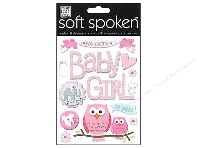 Me & My Big Ideas Soft Spoken Stickers  Baby Girl Animals