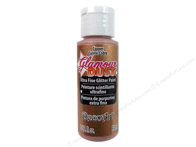 DecoArt Glamour Dust Ultra Fine Glitter Paint 2 oz. Copper