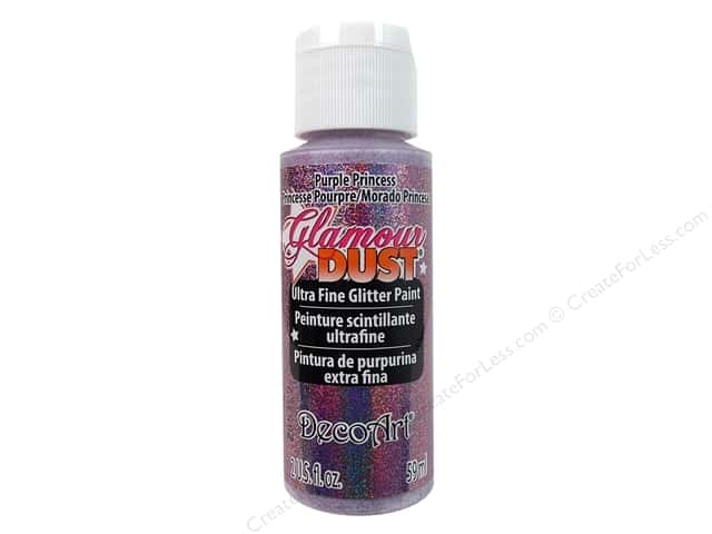 DecoArt Glamour Dust Ultra Fine Glitter Paint 2 oz. Purple Princess