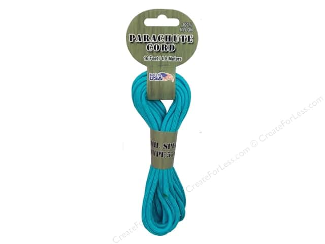 Pepperell 550 Parachute Cord - Turquoise 16 ft.