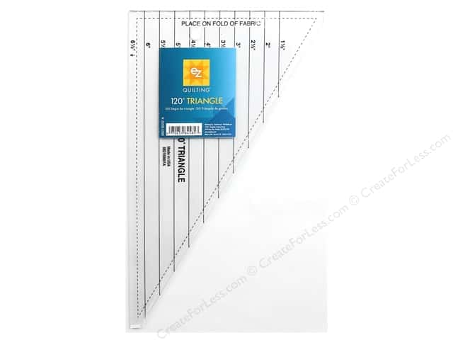 EZ Quilting 120 Degree Triangle Acrylic Ruler