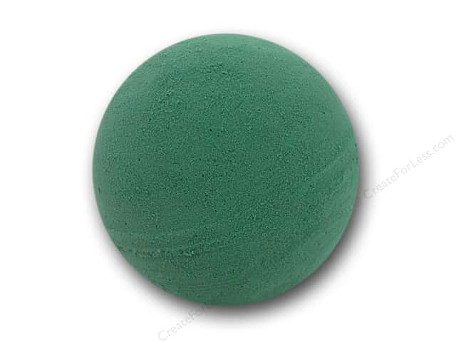 FloraCraft Wet Foam Artesia Ball Green 4 in. (6 balls)