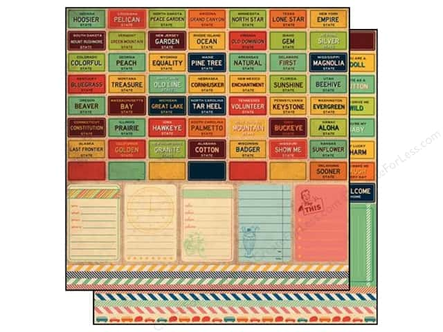 """SEI Paper 12""""x 12"""" Mayberry Perforated Interstate (25 sheets)"""