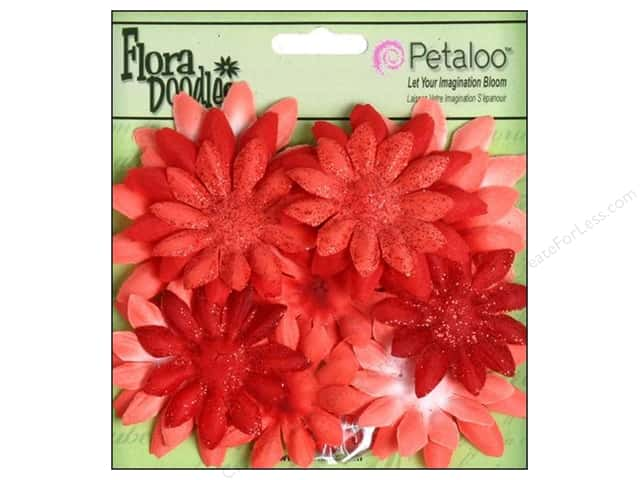 Petaloo FloraDoodles Daisy Layers Small Glitter Red