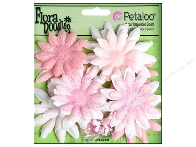 Petaloo FloraDoodles Daisy Layers Small Glitter Pink