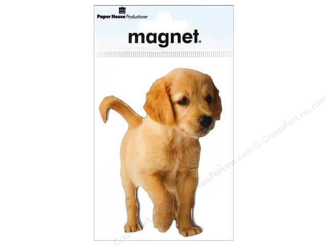 Paper House Magnet Yellow Labrador Puppy