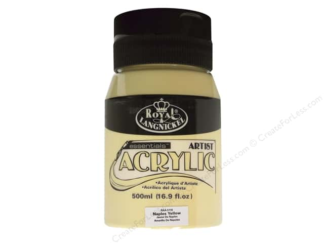Royal Paint Artist Acrylic 16.9oz Naples Yellow
