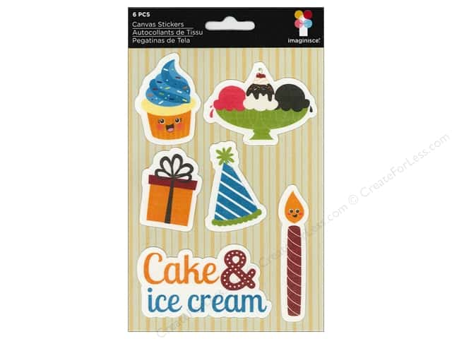 Imaginisce Stickers Hello Cupcake Canvas Cake