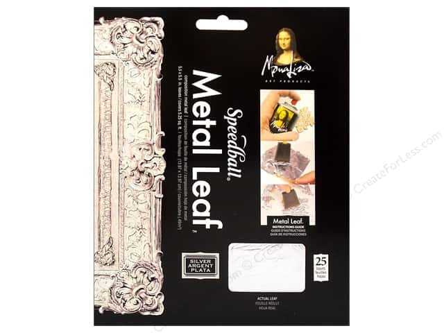 Mona Lisa Metal Leaf Sheet Composition Silver 25pc