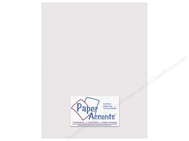 Cardstock 8 1/2 x 11 in. #10141 Stash Builder Textured Beluga by Paper Accents (25 sheets)