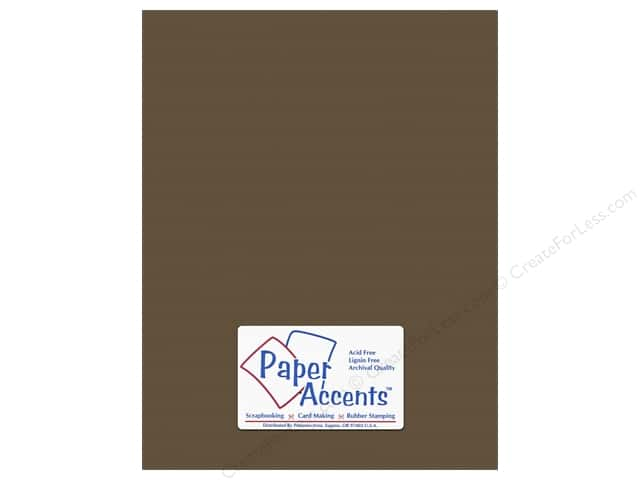 Paper Accents Cardstock 8 1/2 x 11 in. #10143 Stash Builder Textured Molasses (25 sheets)