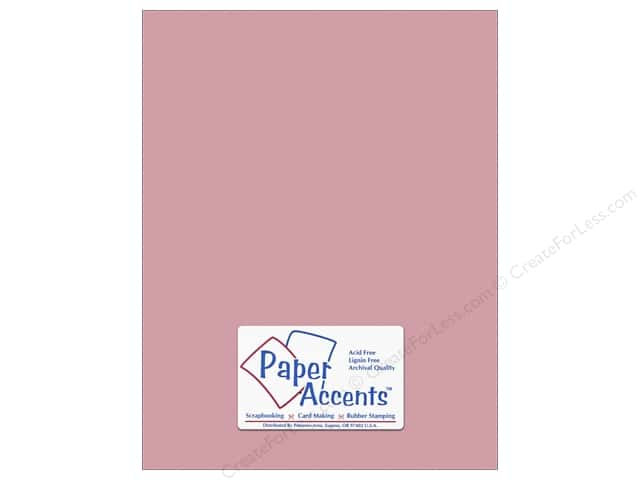 Cardstock 8 1/2 x 11 in. #10144 Stash Builder Textured Vintage Rose by Paper Accents (25 sheets)
