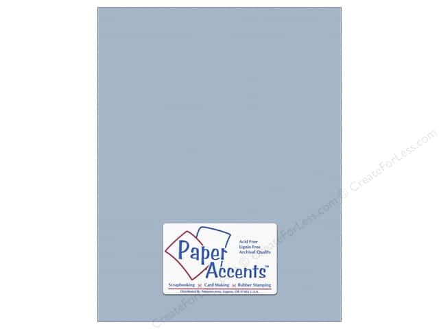 Cardstock 8 1/2 x 11 in. #10145 Stash Builder Textured Blue Heron by Paper Accents (25 sheets)