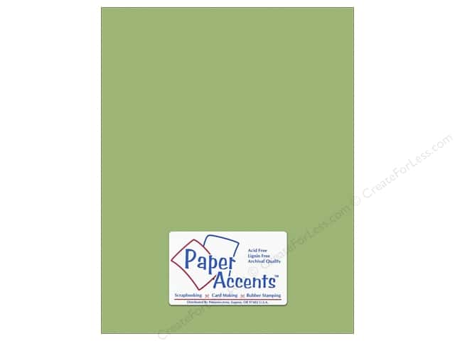 Cardstock 8 1/2 x 11 in. #10148 Stash Builder Textured Green Tea by Paper Accents (25 sheets)
