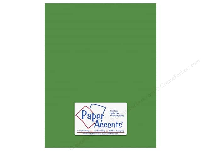 Paper Accents Cardstock 8 1/2 x 11 in. #10149 Stash Builder Textured Irish Green (25 sheets)