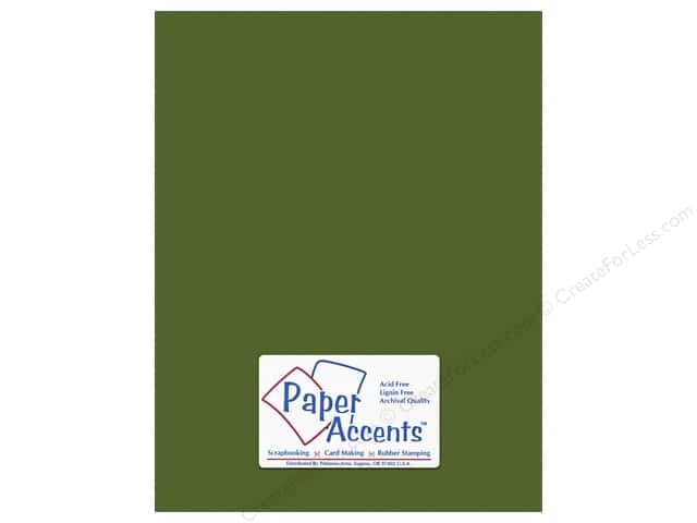 Paper Accents Cardstock 8 1/2 x 11 in. #10150 Stash Builder Textured Pesto (25 sheets)