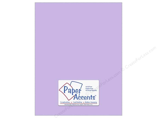 Paper Accents Cardstock 8 1/2 x 11 in. #10153 Stash Builder Textured Viola 25 pc.