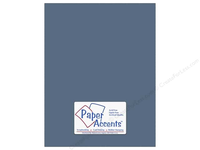 Cardstock 8 1/2 x 11 in. #10155 Stash Builder Textured Bluebell by Paper Accents (25 sheets)