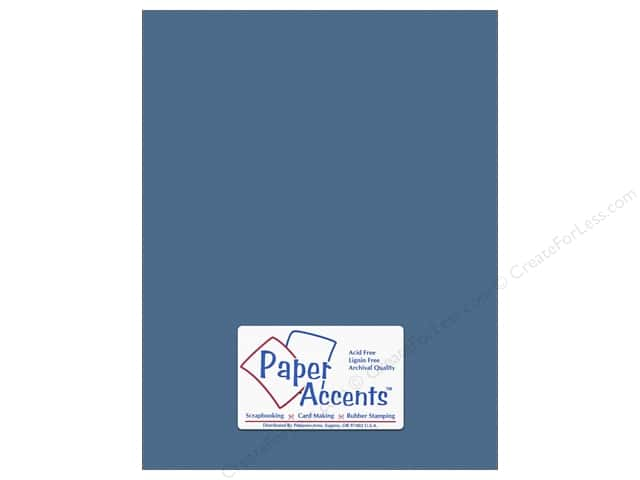 Cardstock 8 1/2 x 11 in. #10157 Stash Builder Textured Bahama Blue by Paper Accents (25 sheets)