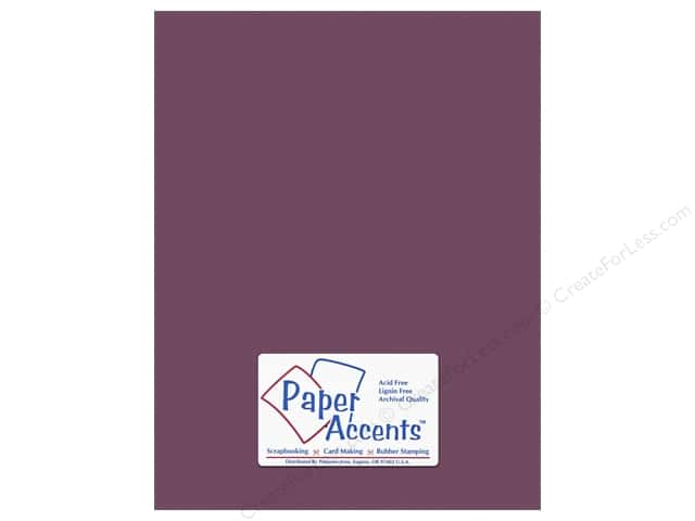 Cardstock 8 1/2 x 11 in. #10159  Stash Builder Textured Plum by Paper Accents (25 sheets)