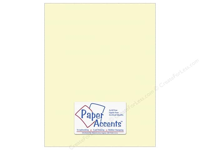 Cardstock 8 1/2 x 11 in. #10161 Stash Builder Textured Citronella by Paper Accents (25 sheets)