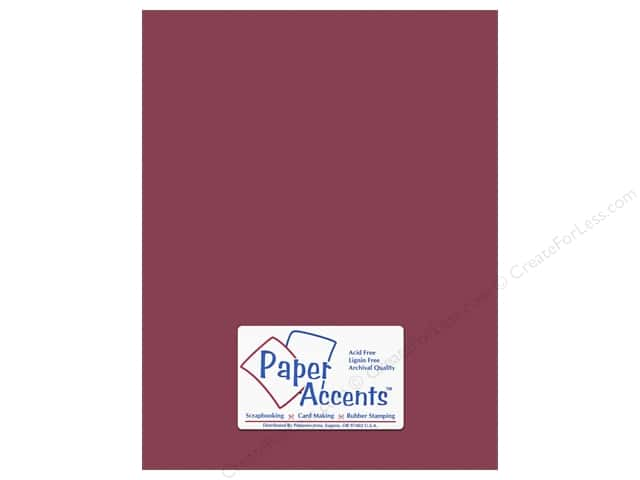 Paper Accents Cardstock 8 1/2 x 11 in. #10162 Stash Builder Textured Berry (25 sheets)