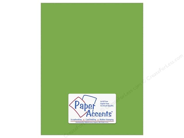 Cardstock 8 1/2 x 11 in. #10163 Stash Builder Textured Limeade by Paper Accents (25 sheets)