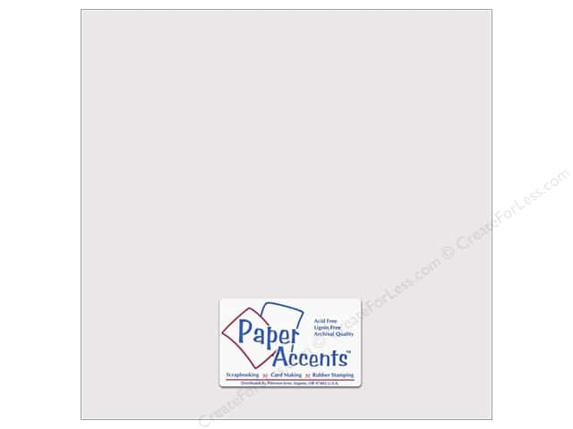Cardstock 12 x 12 in. #10141 Stash Builder Textured Beluga by Paper Accents (25 sheets)