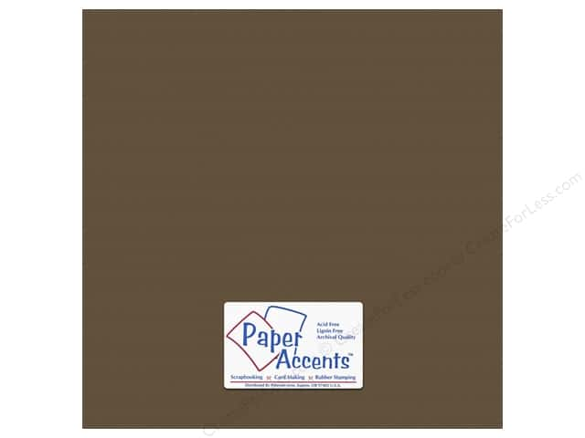 Paper Accents Cardstock 12 x 12 in. #10143 Stash Builder Textured Molasses (25 sheets)
