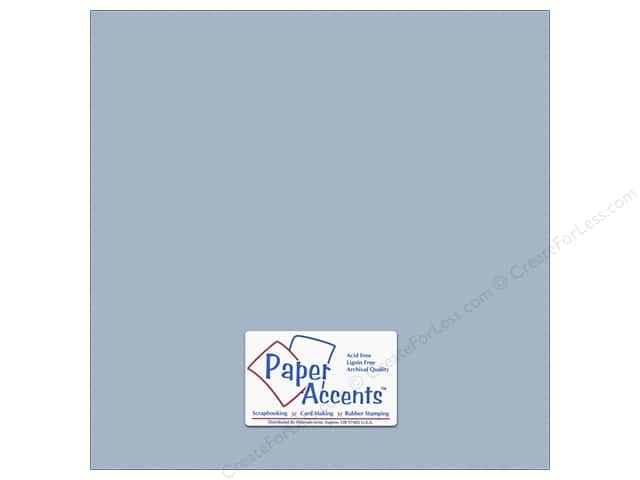 Cardstock 12 x 12 in. #10145 Stash Builder Textured Blue Heron by Paper Accents (25 sheets)