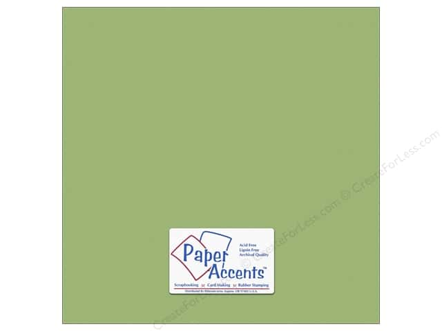 Paper Accents Cardstock 12 x 12 in. #10148 Stash Builder Textured Green Tea (25 sheets)