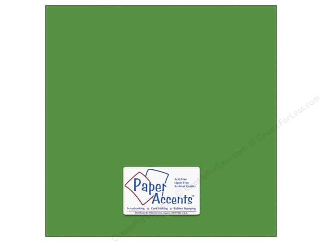Cardstock 12 x 12 in. #10149 Stash Builder Textured Irish Green by Paper Accents (25 sheets)
