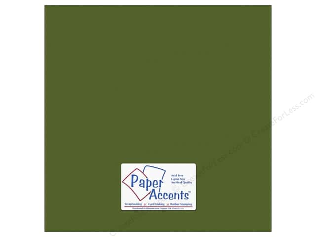 Paper Accents Cardstock 12 x 12 in. #10150 Stash Builder Textured Pesto (25 sheets)