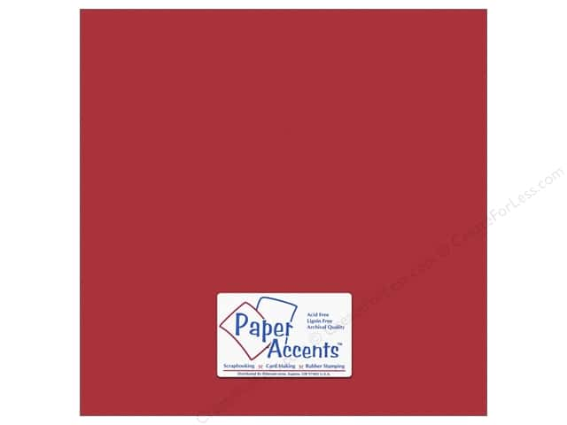 Cardstock 12 x 12 in. #10152 Stash Builder Textured Tomato by Paper Accents (25 sheets)
