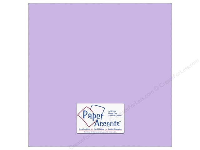 Cardstock 12 x 12 in. #10153 Stash Builder Textured Viola by Paper Accents (25 sheets)