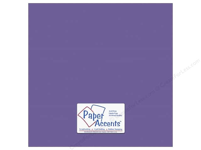 Cardstock 12 x 12 in. #10154 Stash Builder Textured Royal Purple by Paper Accents (25 sheets)
