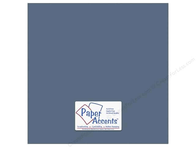 Cardstock 12 x 12 in. #10155 Stash Builder Textured Bluebell by Paper Accents (25 sheets)