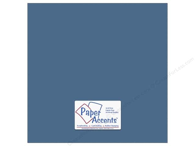 Paper Accents Cardstock 12 x 12 in. #10157 Stash Builder Textured Bahama Blue (25 sheets)