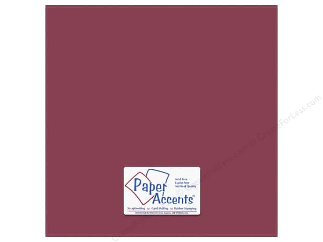 Cardstock 12 x 12 in. #10162 Stash Builder Textured Berry by Paper Accents (25 sheets)