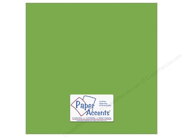 Cardstock 12 x 12 in. #10163 Stash Builder Textured Limeade by Paper Accents (25 sheets)