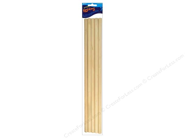Darice Wood Dowels 12 x 3/8 in. 5 pc.