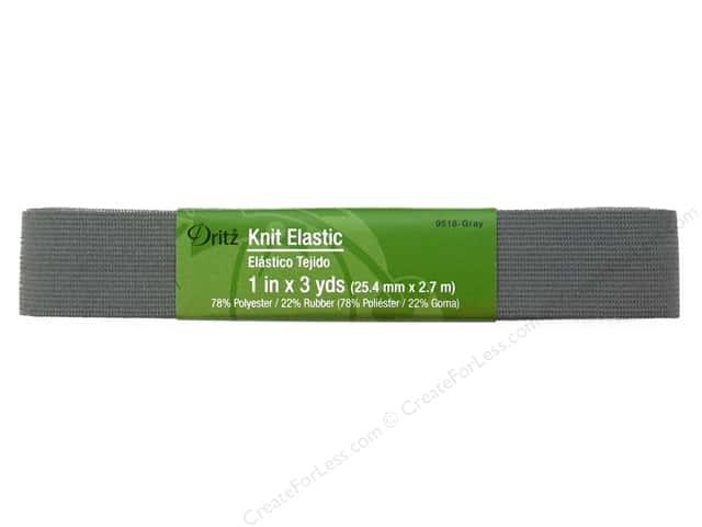 Knit Elastic by Dritz Grey 1 in. x 3 yd.