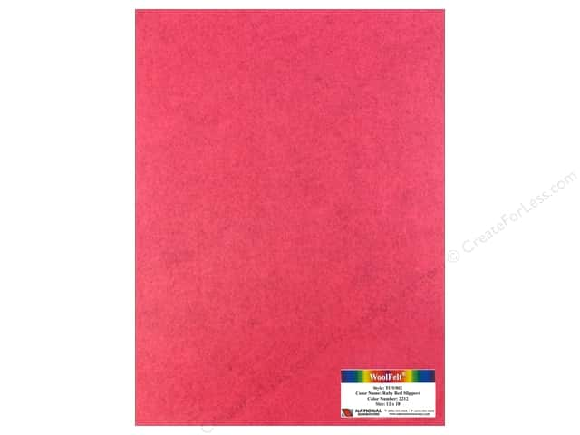 National Nonwovens WoolFelt 12 x 18 in. 35% Ruby Red Slippers (10 sheets)