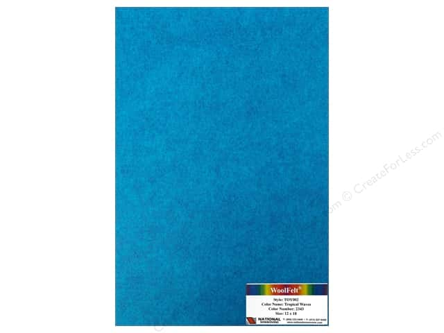 National Nonwovens WoolFelt 12 x 18 in. 35% Tropical Wave (10 sheets)