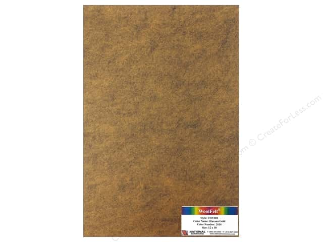 National Nonwovens WoolFelt 12 x 18 in. 35% Havana Gold (12 sheets)