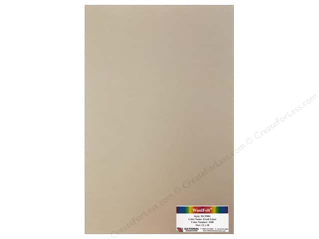 National Nonwovens 20% Wool Felt 12 x 18 in. Fresh Linen (10 sheets)