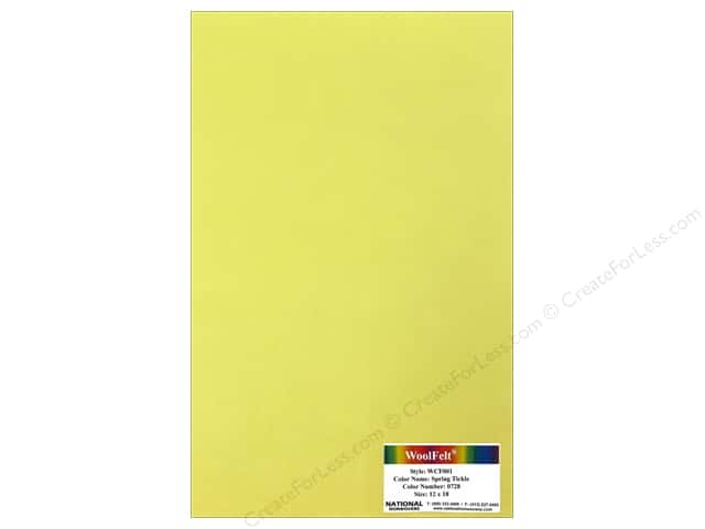 National Nonwovens WoolFelt 12 x 18 in. 20% Spring Tickle (10 sheets)