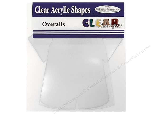 Clear Scraps Clear Album 8 x 9 1/2 in. Boys Bib Overalls