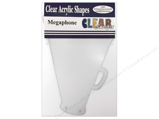 Clear Scraps Clear Album 9 1/2 x 6 1/2 in. Megaphone